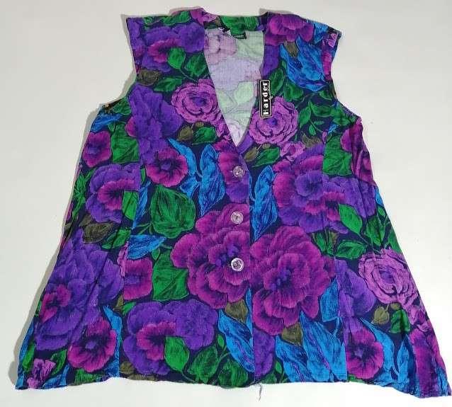 Blusa algodón floreado - 0