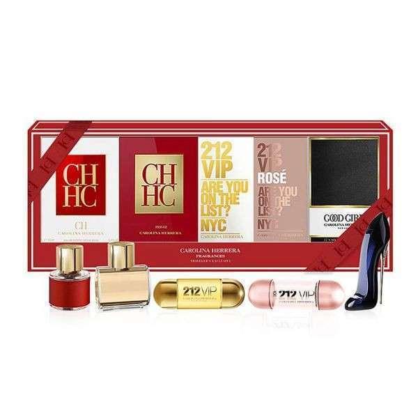 Kit de mini perfumes 5x1 Carolina Herrera femenino - 0