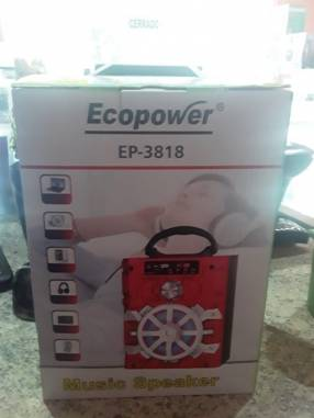 Radio Ecopower EP-3818 fm usb auxiliar bluetooth
