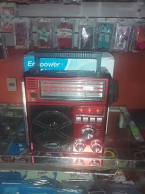 Radio Ecopower EP-F86 AM/FM/USB/SD/LINTERNA LED