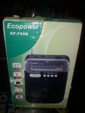 Radio Ecopower EP-F99B, AM/FM, BT, USB, Recargable