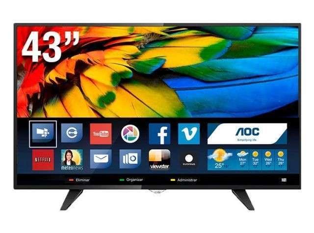 Smart tv AOC 43 pulgadas - 0
