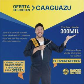 Terrenos en Caaguazú