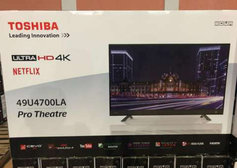 Tv LED Smart Toshiba full UHD 4k de 49 pulgadas - 0