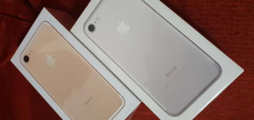 iphone 7 de 128 gb sellado + protectores antishok de regalo - 0
