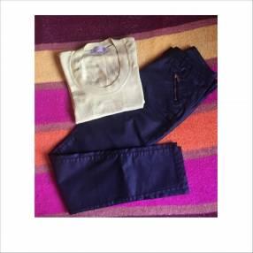Pantalón mediano negro con cierre