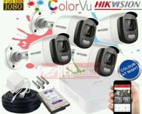 Instalación de cámaras color vu,puedes ver en coloresd noche