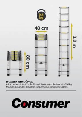Escalera telescopica consumer
