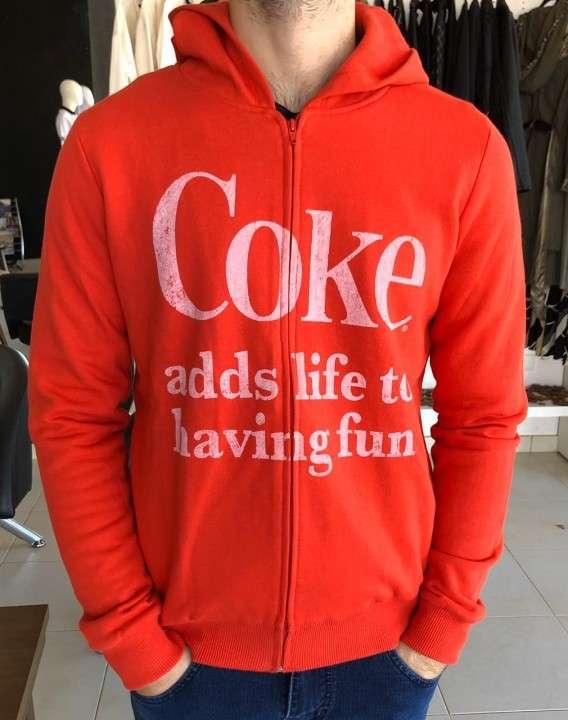 Chaqueta Coca Cola con cremallera roja talla P - 0