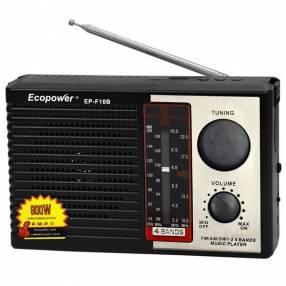Radio portátil AM/FM/SW Ecopower EP-F10B con bluetooth usb