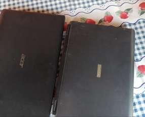 Notebooks Acer Aspire y Toshiba Satelite descompuestas