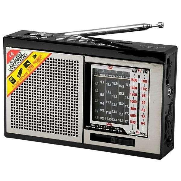 Radio portátil AM/FM/SW Satellite AR-308BT 2W con bluetooth linterna led - 0