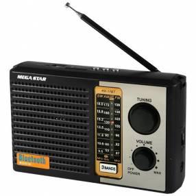 Radio portátil MegaStar RX-17BT am fm con bluetooth sd usb