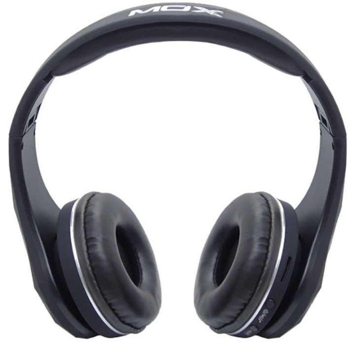 Auricular Mox MO-BH551 bluetooth aux negro - 0