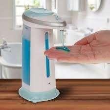 Dispenser de alcohol y jabón líquido con sensor - 1
