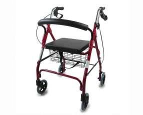 Andador rollator con sentadera
