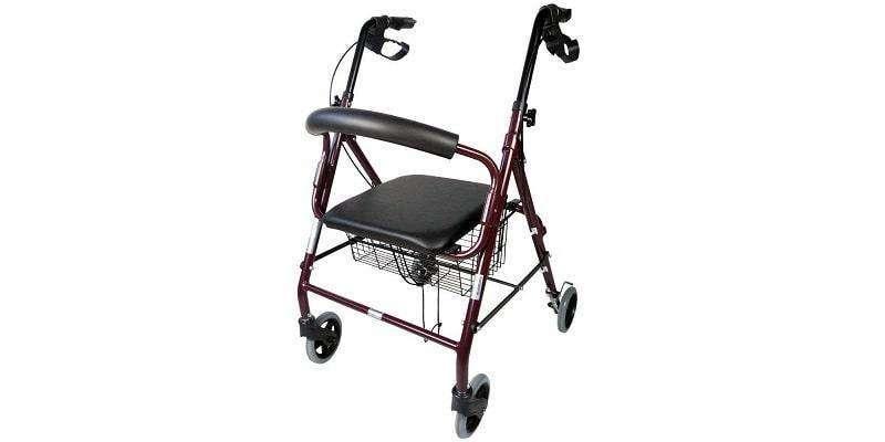 Andador rollator con sentadera - 1