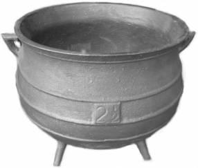 Olla de hierro fundido nº 2 1/2 capacidad 5 litros