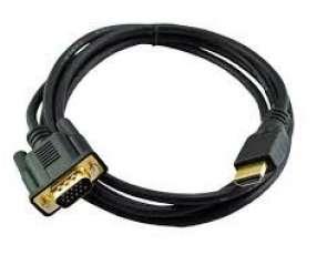 Cable vga hdmi para conectar tu pc a tv