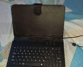 Teclado para celular y tablet con adaptador