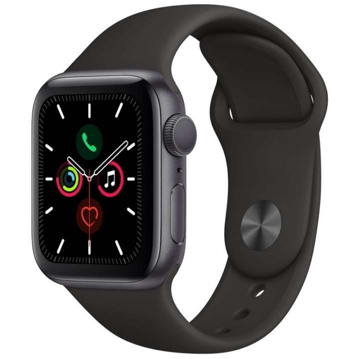 Apple Watch S5 (GPS) caja aluminio space gray 40mm pulsera D - 0