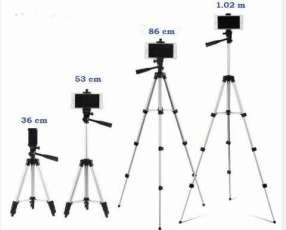 Trípode para celular y camara altura regulable