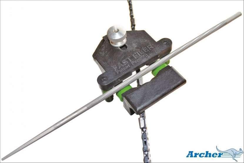 Afilador rápido medida 5/32 para cadenas paso 3/8 PL verde - 0