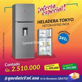 Heladera Tokyo inox 341 litros