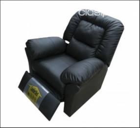Poltrona ecoleather reclinable sistema de empuje (745