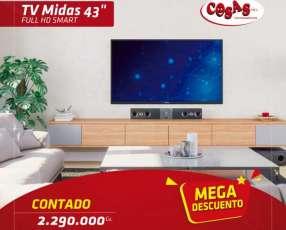 Tv Midas 43 pulgadas full HD smart