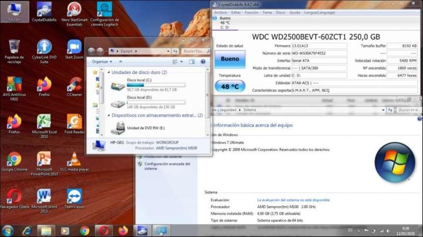 Notebook HP G61-511WM 15.6 pulgadas usada con garantía - 1