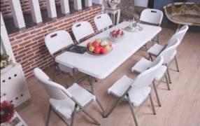 Mesas para 8 personas plegables