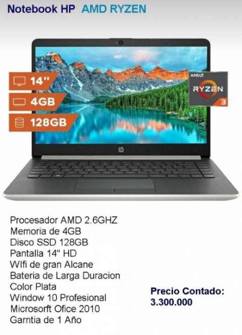 Notebook HP AMD RYZEN 14