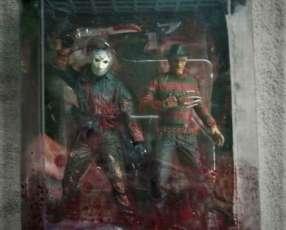 McFarlane - Movie Maniacs - Freddy Krueger - Jason Voorhees