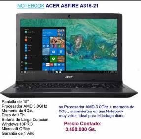 Notebok Acer Aspire A315-21