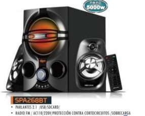 Parlante MegaStar 2.1 con woofer SPA268BT para computadora