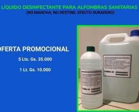 Desinfectante líquido para alfombras sanitarias