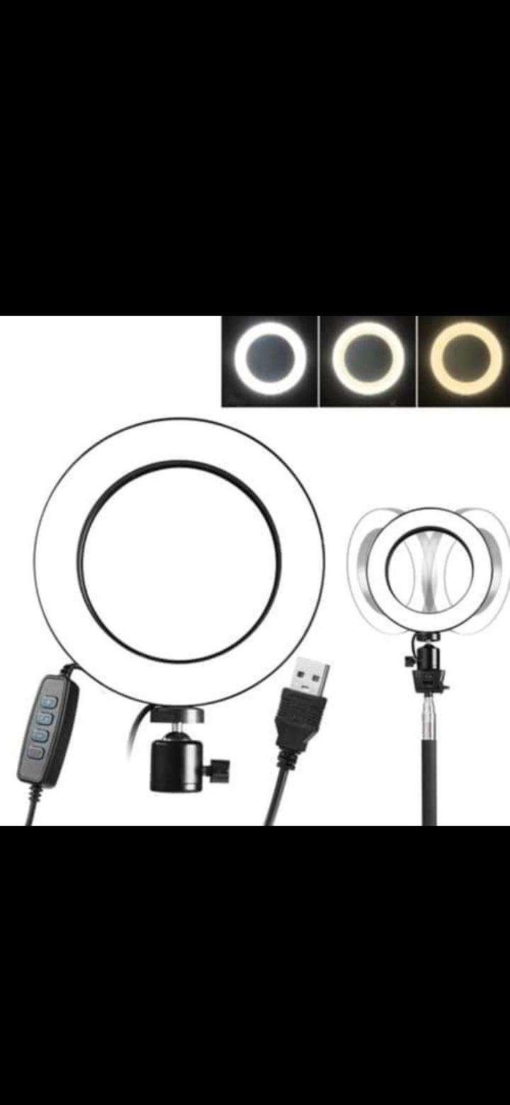 ARO LED 26cm Con soporte de celular - 0