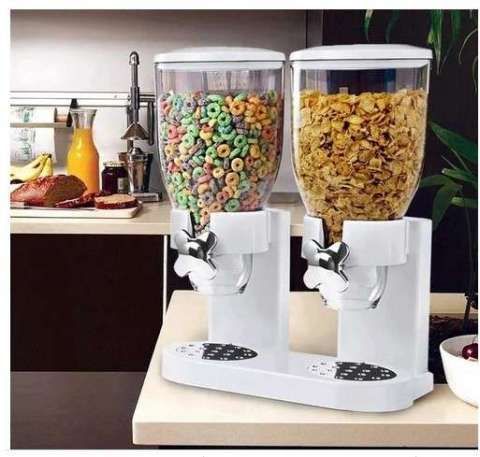 Dispenser doble de cereales