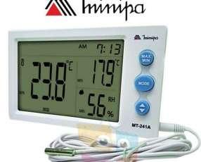 Termohigrómetro Minipa MT-241A digital con sonda