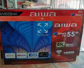 Smart tv led 4k UHD Aiwa 55 pulgadas