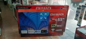 Smart tv led 4k UHD Aiwa 55 pulgadas