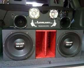 Equipo de sonido para vehiculo