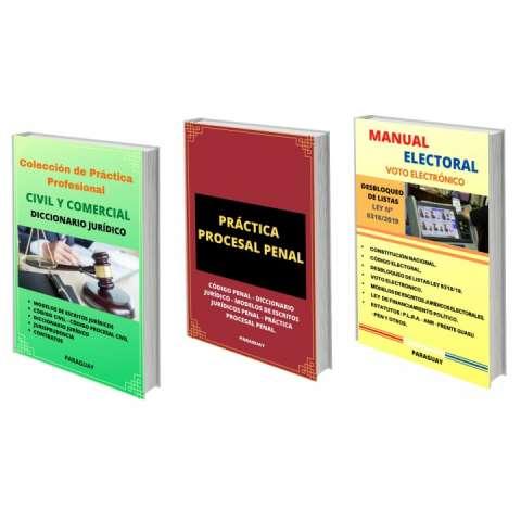 Combo triple libros jurídicos