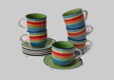 Juegos de tazas para Café, 12 Piezas