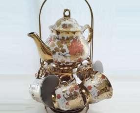 Juego de tazas para café con leche Dorado