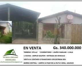 Casa en venta terreno:378m2