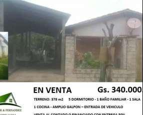 Casa terreno: 480m2