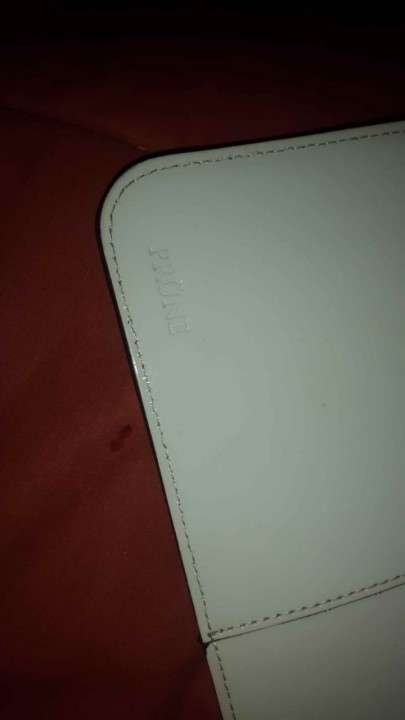 Cartera Prune color blanco, sin ningun uso - 0