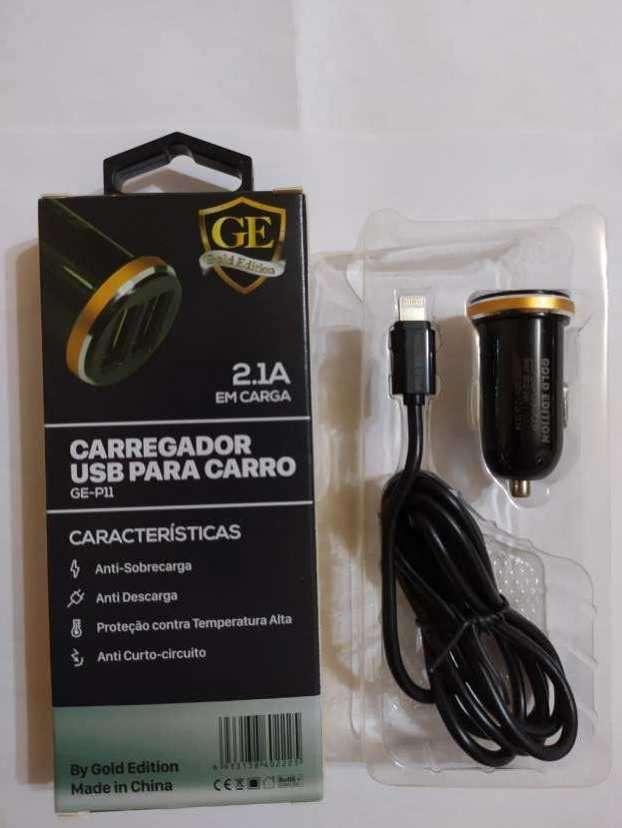 Cargador para auto con cable iPhone - 1